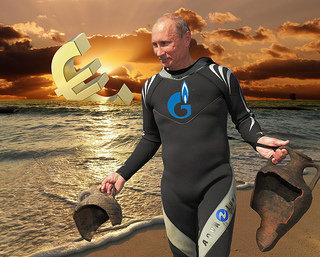 Putin and Euro remnants