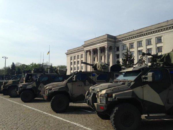 military equipment odessa kulikovo polie may 2 2016