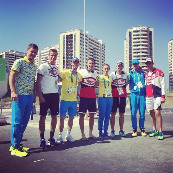 Russian & Ukrainian athletes together in Rio