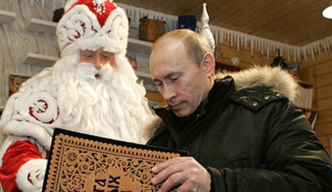 Putin at Ded Moroz's home, Ustiug, Russia